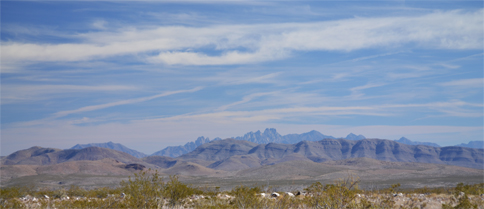 View of the Organ and Robledo Mountains from the west, proposed Organ Mountains-Desert Peaks National Monument. Photo: Stephen Jones