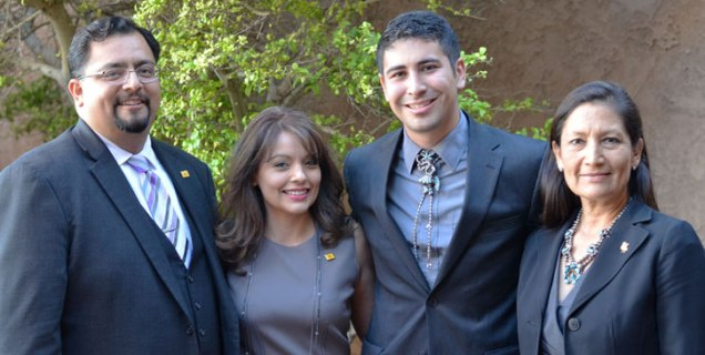Photo: (Left to right) Robert Lara, Neomi Martinez-Parra, Juan Sanchez, and Debra Haaland